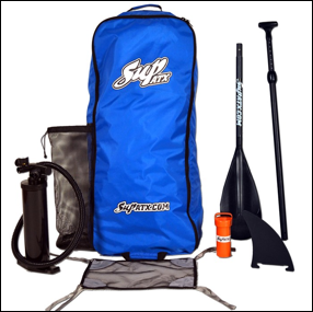 The SUP ATX Inflatable Package includes all the bells and whistles!